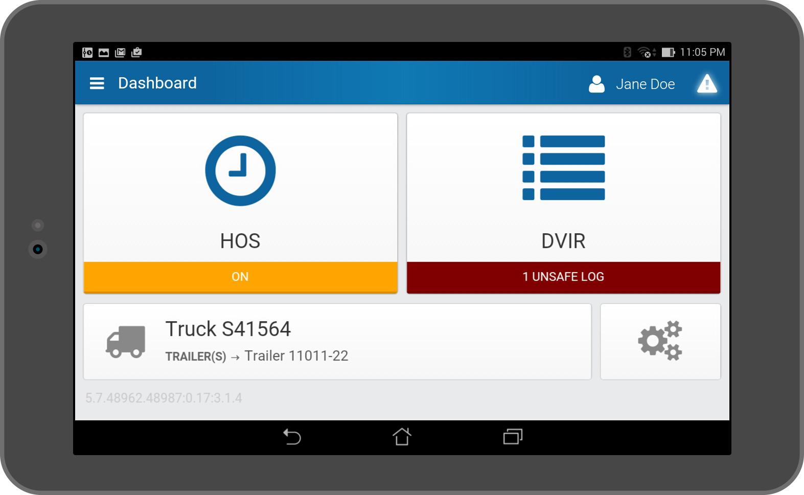 Reporte sobre inspección de conductor de vehículo (DVIR)