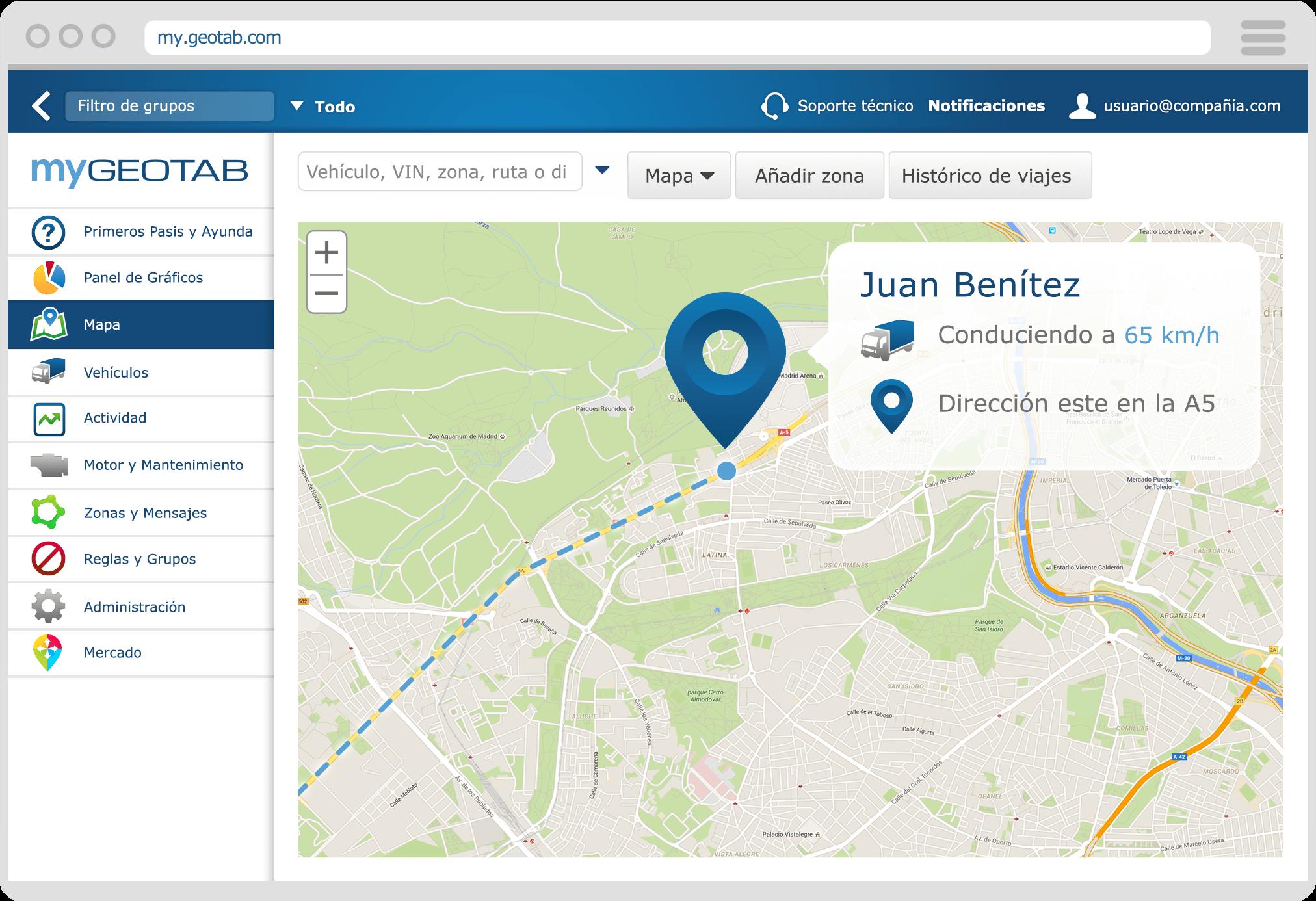 Localización de unidades en tiempo real